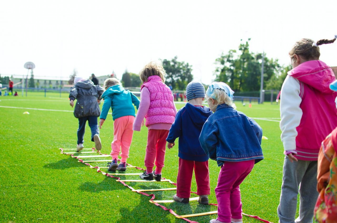 A group of children playing together.